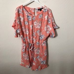 French Connection Orange Floral Romper